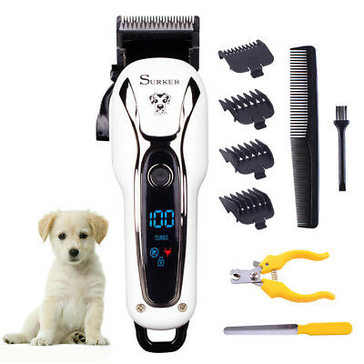 SURKER Pet Grooming Pro Kit Electric Hair Shear Clipper Dog Cat Cordless Trimmer
