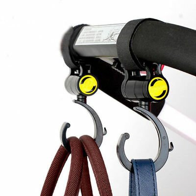 Hook and Stroll Pram Pushchair Buggy Stroller Clips Hooks 2 Pack Happy Mummy UK