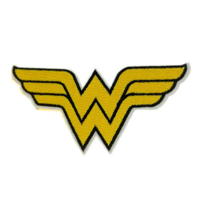 """Wonder Woman Logo DC Comics Patch Embroidered Iron Sew On Appliques 5.5""""X2.7"""""""