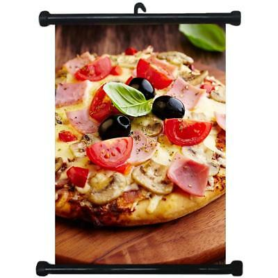 sp217110 Pizza Wall Scroll Poster For Shop Decor Display