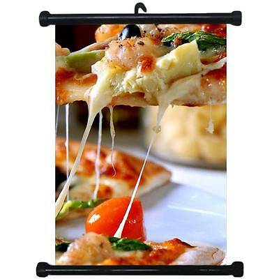 sp217114 Pizza Wall Scroll Poster For Shop Decor Display