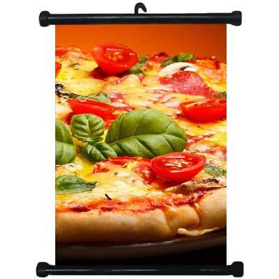 sp217115 Pizza Wall Scroll Poster For Shop Decor Display