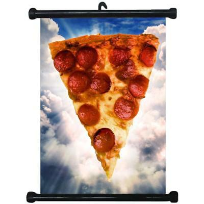 sp217122 Pizza Wall Scroll Poster For Shop Decor Display