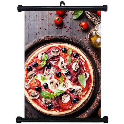 sp217123 Pizza Wall Scroll Poster For Shop Decor Display