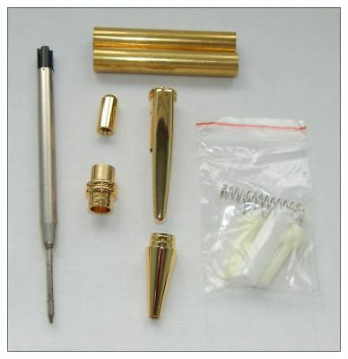 Woodturning Push Click Pen Kit - Gold / Bushes