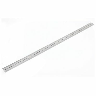 "Stainless Steel Double Side Measuring Straight Edge Ruler 60cm/24"", Silver X0O5"