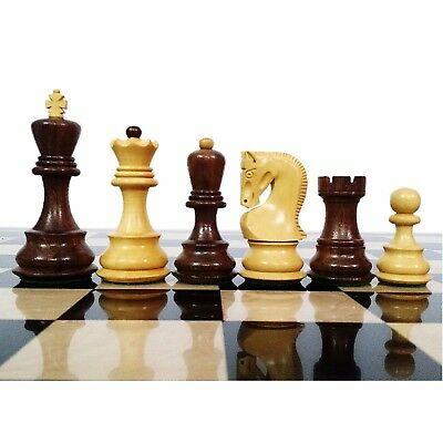 "3.9"" Golden Rose wood Chess Pieces set Weighted 4 queens Zagreb FREE Shipping"