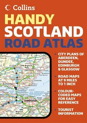 Handy Road Atlas Scotland by Collins UK Paperback Book The Cheap Fast Free Post