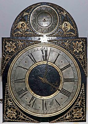 RARE FRENCH Longcase dial and movement by Herbecq 1812, from Dourlers France