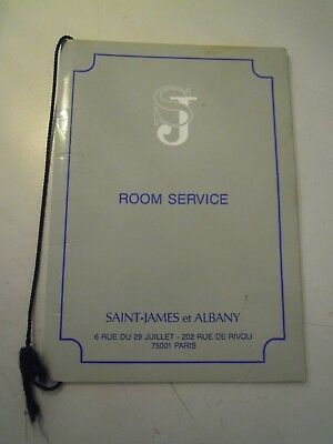 Room Service Saint-James Et Albany Rue De Rivoli Paris  C7-441