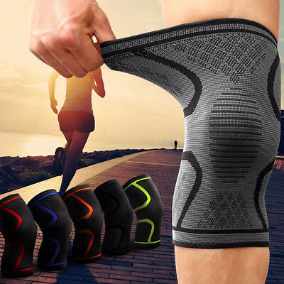 2 X Knee Sleeve Compression Brace Support For Sport Joint Pain Arthritis Relief