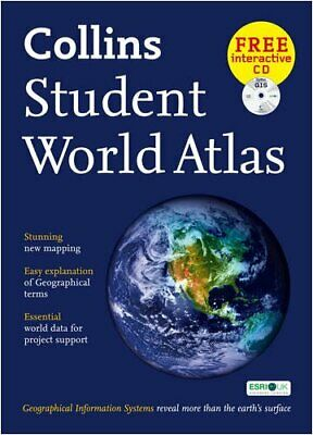 Collins Student World Atlas Hardback Book The Cheap Fast Free Post