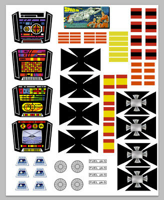 Mattel Replacement SPACE 1999 EAGLE Sticker set - Recreated in Photoshop