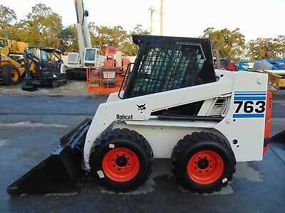 "Bobcat 763 -Enclosed Cab- ""the Original Classic""  Bullet Proof Skid Wheel Loader"