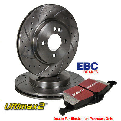 Ebc Brake Pads & Front Drilled Grooved Discs Subaru Forester Impreza Legacy