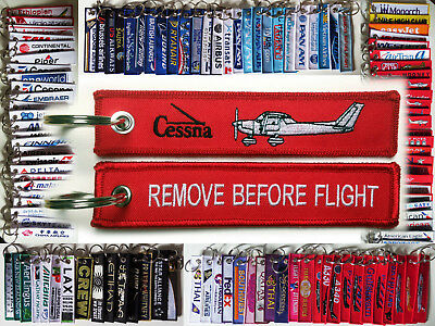 Keyring Cessna C150 Remove Before Flight keychain tag for pilots