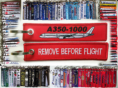 Keyring AIRBUS A350-1000 NEW in red Remove Before Flight keychain for pilot crew