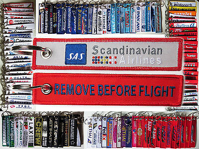Keyring SAS Scandinavian Airlines System Remove Before Flight keychain for pilot