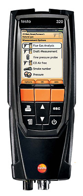 Testo 320 (0563 3220 70) Combustion Analyzer Kit with Color Display