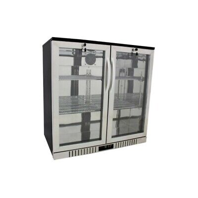 "36"" Wide 2-door Stainless Back Bar Beverage Cooler - Counter Height Refrigerator"