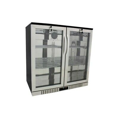 "New 36"" Wide 2-door Stainless Steel Back Bar Beverage Cooler (Free Shipping)"