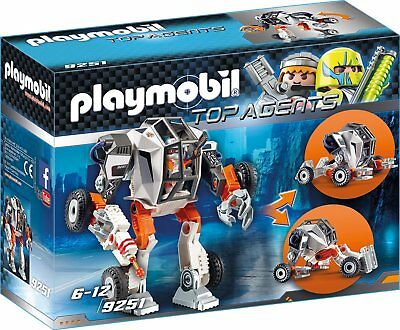 Playmobil - Top Agents - 9251 - Agent T.E.C.´s Mech - NEU