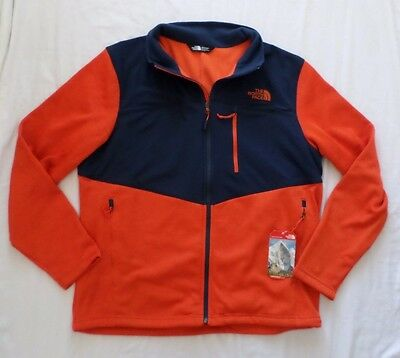 New The North Face Men's Norris Full Zip Fleece Lined Jacket Papaya Size XL $129