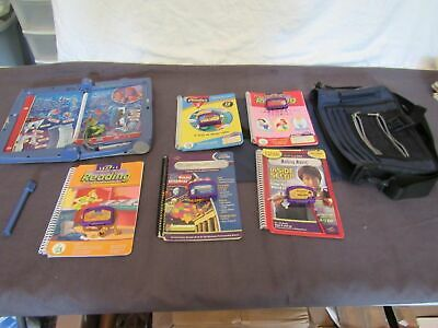 Quantum Leap Pad  Leapfrog 6 Cartridges & Books & Case