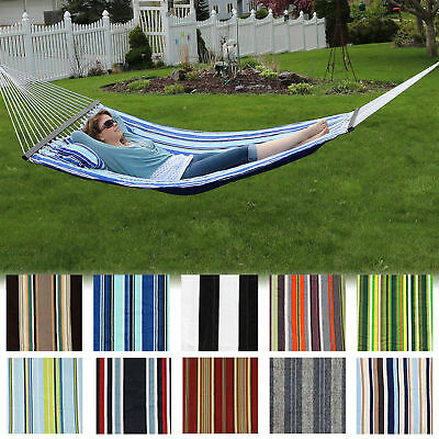Sunnydaze 2 Person Quilted Hammock w/ Spreader Bar & Pillow - Many Options