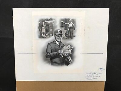 "Production Artwork - Letter Carriers ""We Deliver"""