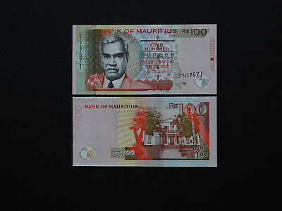 MAURITIUS BANKNOTES  100 RUPEES   2012   p56     OUTSTANDING  NOTES    MINT UNC