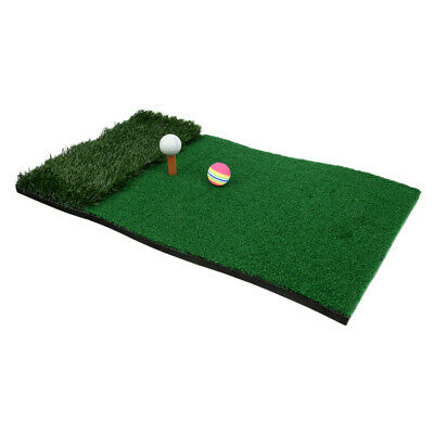 Golf Fairway Rough Mat Home Practice Training Mat with Tee Holder Balls A#