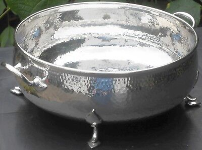 Arts & Crafts Fruit Bowl - Silver Plated - Mappin & Webb - Antique