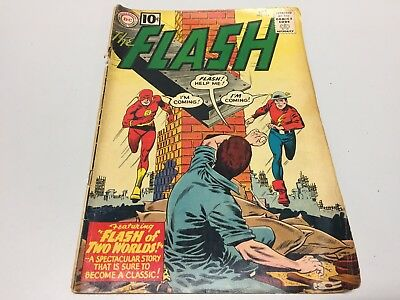 The Flash #123! DC Comics - 1961! Origin of BOTH Flashes, Earth 2! KEY ISSUE!!