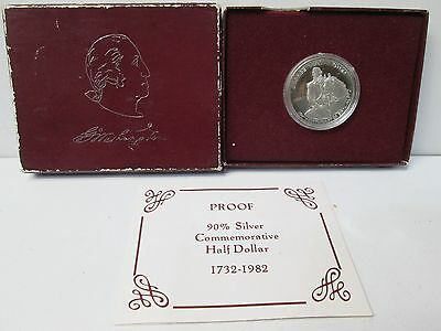 1982 George Washington Proof Silver Half Dollar Commemorative Coin