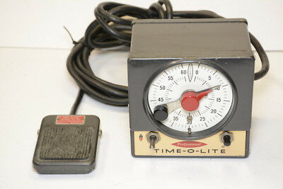 Time-O-Lite P-59 Professional Darkroom Timer w/ FS-59 Foot Switch--Nice, Clean