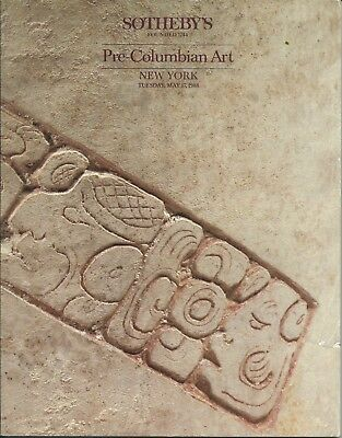 SOTHEBY'S PRE-COLUMBIAN PERU MAYA MASK GOLD MEXICO ART Auction Catalog 1988