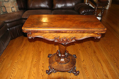 Gorgeous hand crafted Antique Maple folding Games Table Circa 1900's hall table