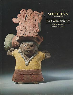 SOTHEBY'S PRE-COLUMBIAN PERU MAYA MASK GOLD TEXTILES ART Auction Catalog 1991