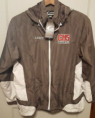 "CALDWELL HIGH SCHOOL Cougars Lightweight Cheerleader Jacket Size Large - ""CASEY"""
