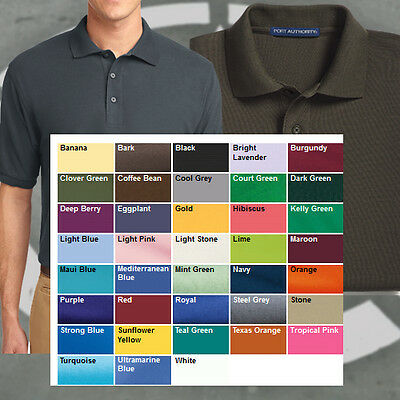 Port Authority Polo GOLF Shirt K500 Silk Touch NEW  FREE ADIDAS HAT WHEN BUY 3