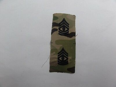 Us Military Insignia Patch Sew On Set Of 2 Rank Ocp First Sergeant E-8 Multicam