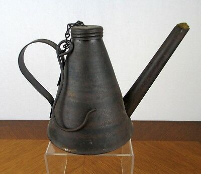 Vintage Metal 1912 Eagle Coal Mining Oil Lamp with Cotton Wick and Hanging Hook