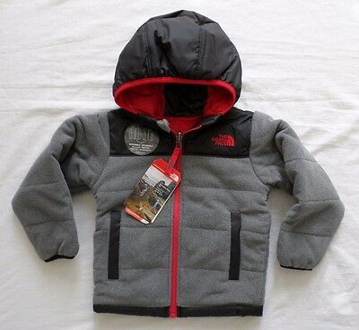 New The North Face Toddler Boys True or False Reversible Fleece Jacket 2T 3T 4T