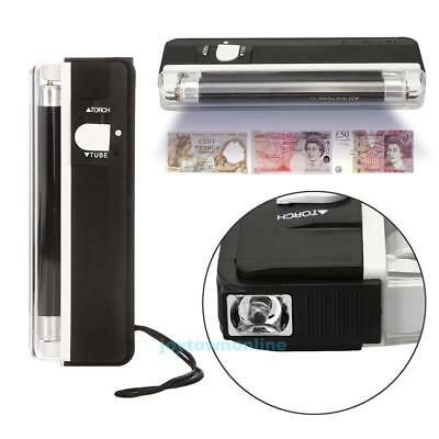2in1 Handheld Mini UV Led Light Torch Lamp Counterfeit Currency Money Detector