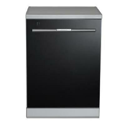 Baumatic BSS14 Black Glass 60cm Freestanding Dishwasher