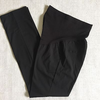 Liz Lange for Target Maternity Pants Small Black Full Panel Stretch Career New