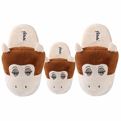 Women /Kids Cotton Slippers Home Bedroom Indoor Warm Shoes Animal Monkey Plush