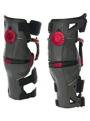 Mobius Storm Grey-Crimson 2017 X8 Pair of MX Knee Brace