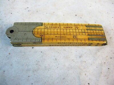 12 Inch Double Folded Ruler By Rabone & Sons C1890'S